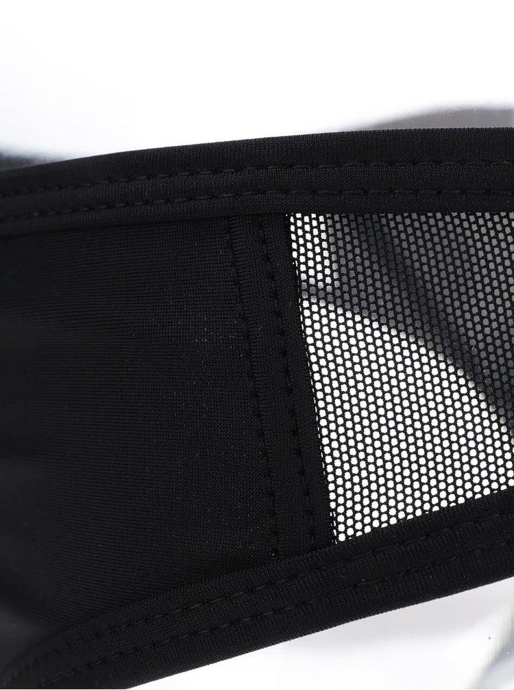 Černý spodní díl plavek s průsvitnými detaily Y.A.S Mace