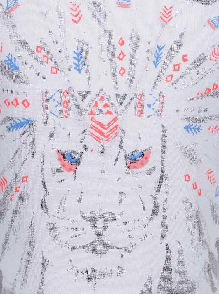Bílé holčičí tričko s potiskem lva name it Kion