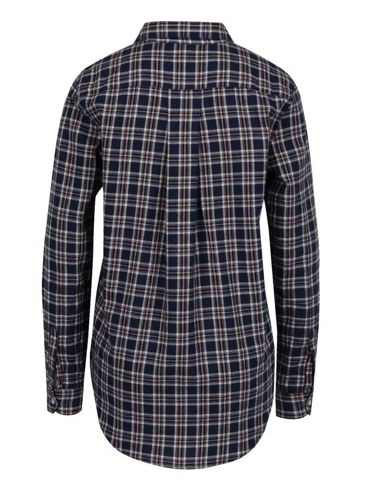 Růžovo-modrá flanelová kostkovaná košile VERO MODA Check