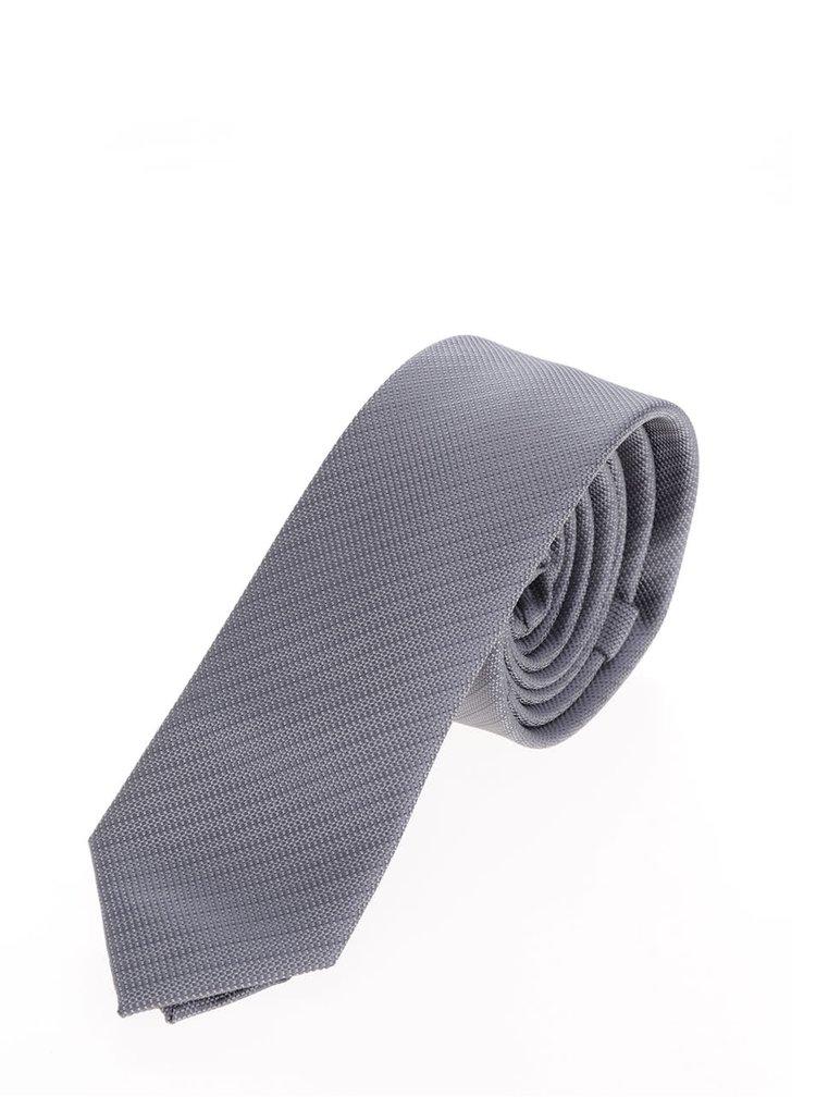 Cravata gri deschis Selected Homme Neal cu model