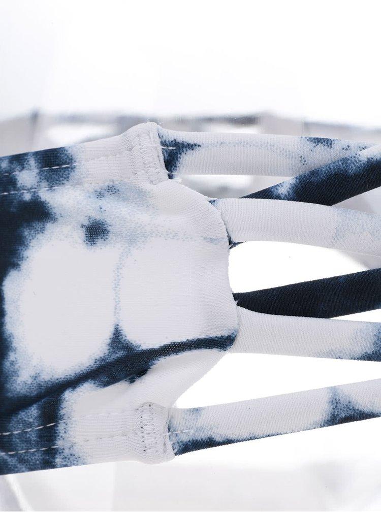 Modro-bílý vzorovaný spodní díl plavek Y.A.S Shibori