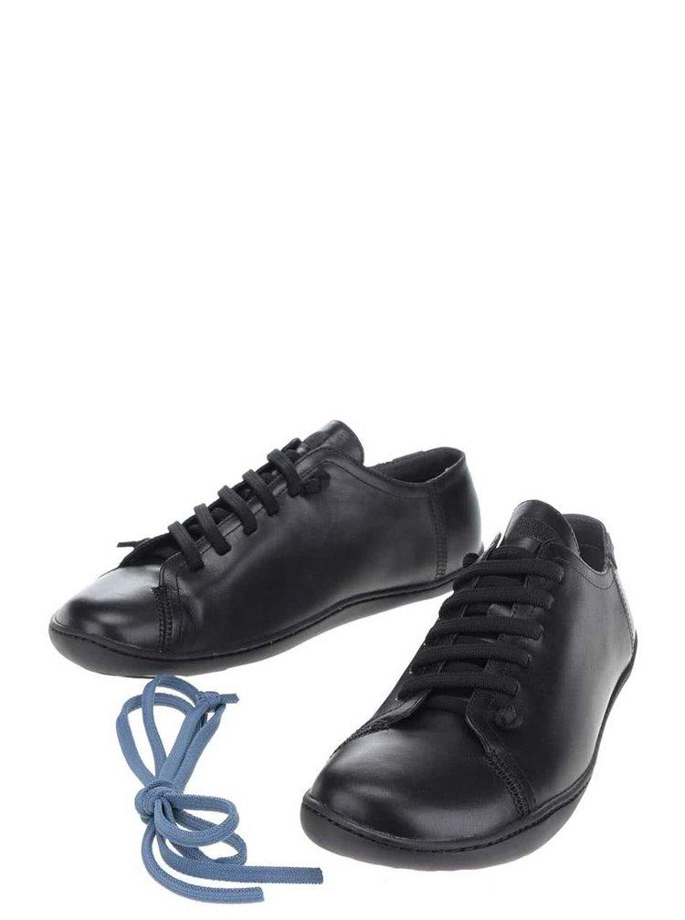 Černé pánské kožené tenisky s měkkou stélkou Camper