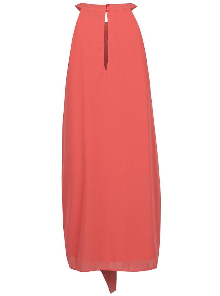 Růžové volné šaty s volánem VERO MODA Bea