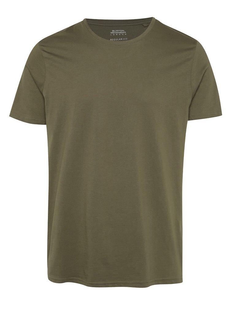 Khaki basic tričko Burton Menswear London