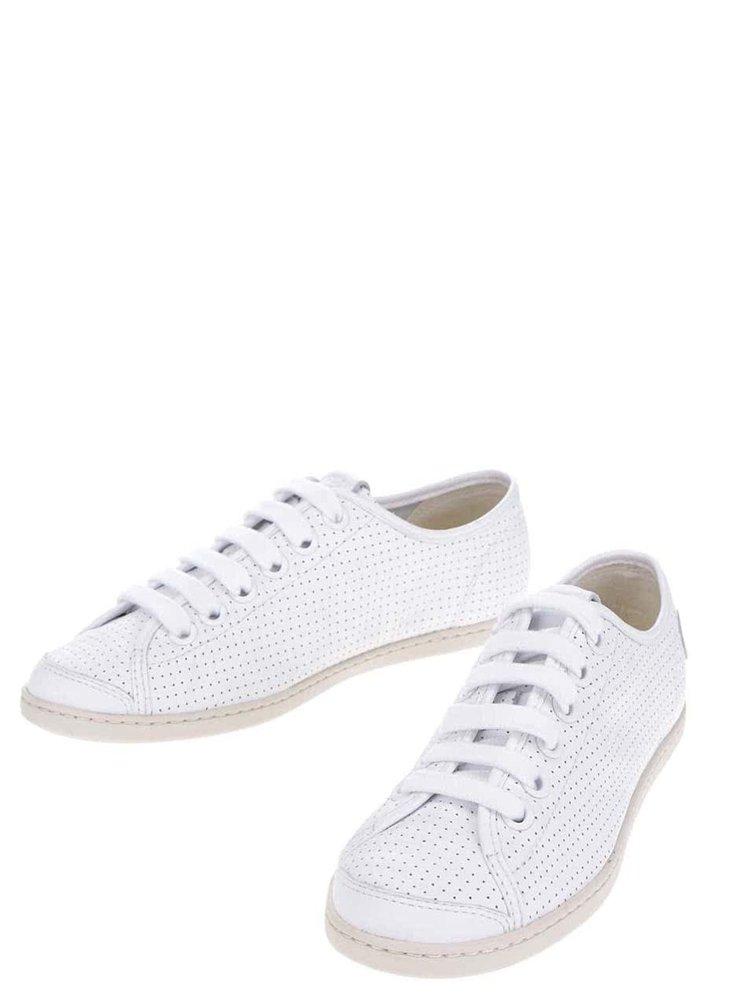 Bílé dámské kožené tenisky Camper