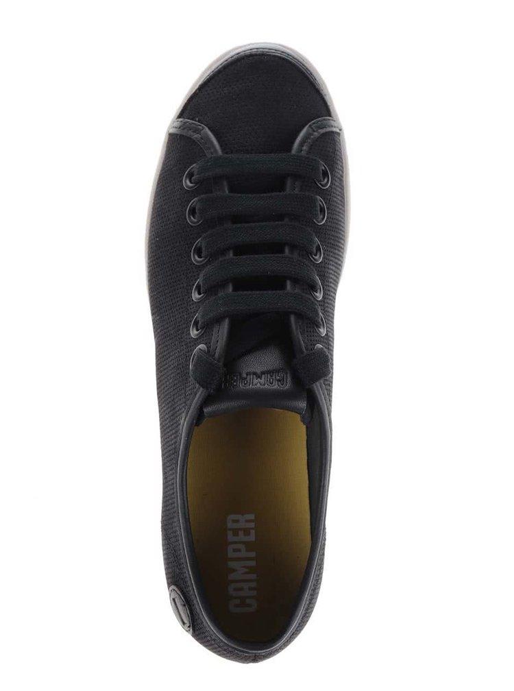 Černé dámské kožené tenisky Camper