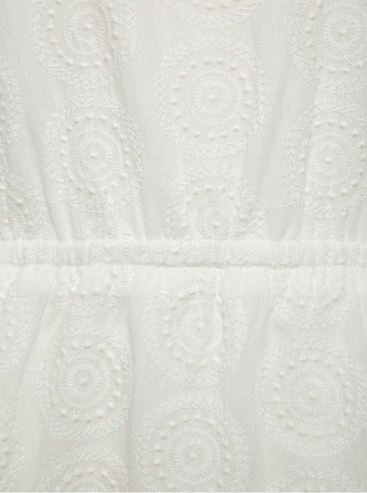 Rochie albă Smashed Lemon din bumbac