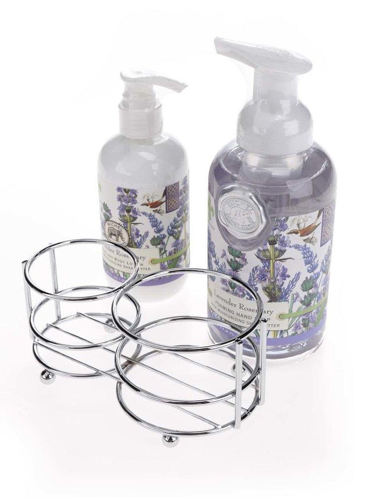 Set tekutého mýdla a krému na tělo a na ruce s vůní levandule a rozmarýnu Michel Design Works