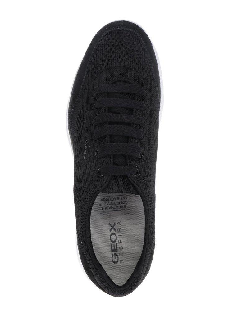 Černé pánské tenisky se semišovými detaily Geox Damian