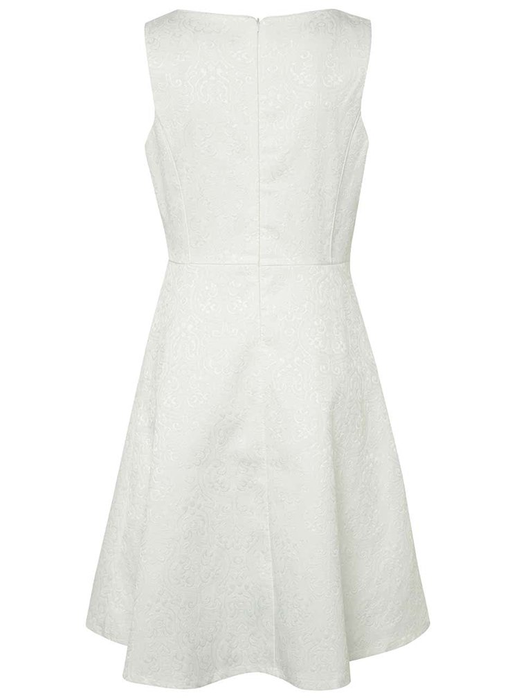 Rochie albă Smashed Lemon cu broderie discretă