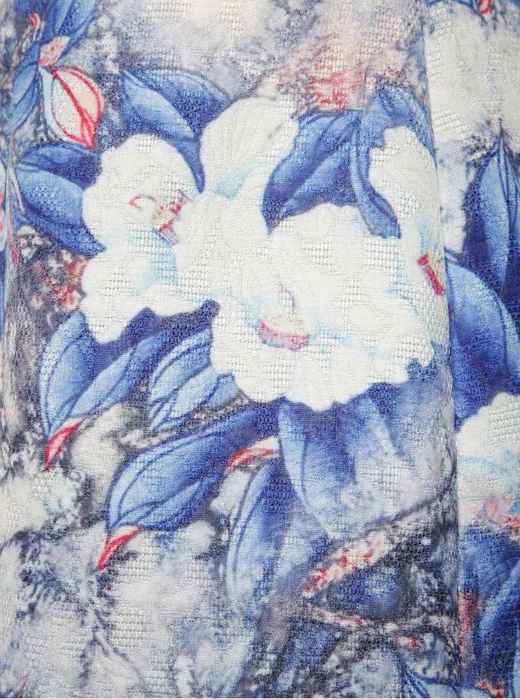 Bílo-modré květované šaty Smashed Lemon