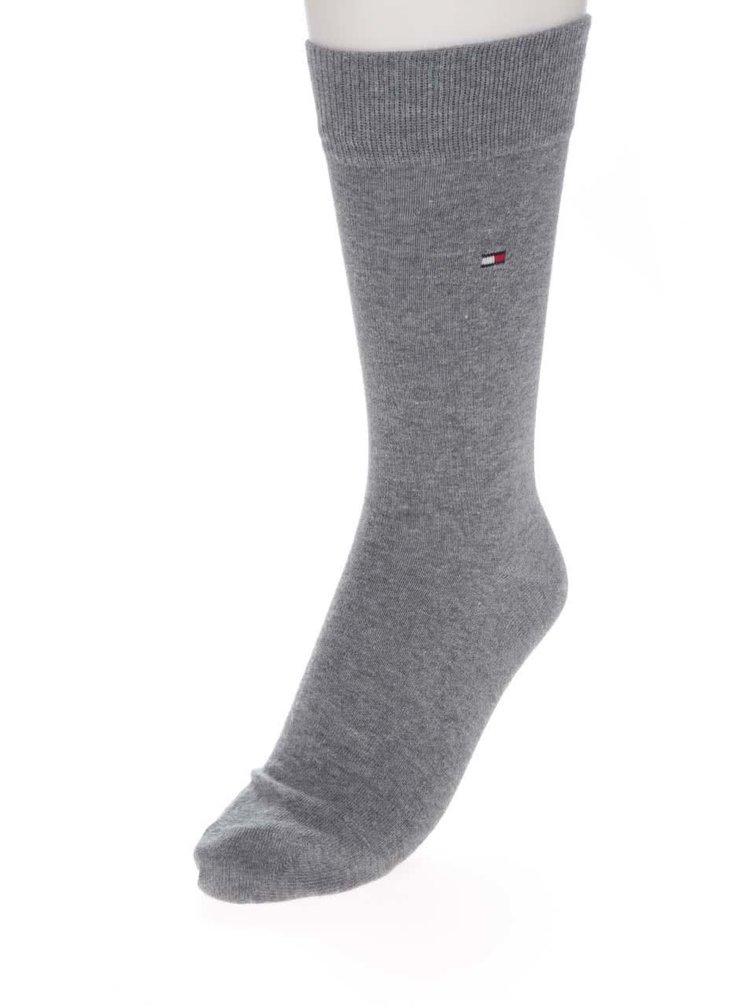 Sada dvou párů pánských pruhovaných ponožek v šedé a bílé barvě Tommy Hilfiger