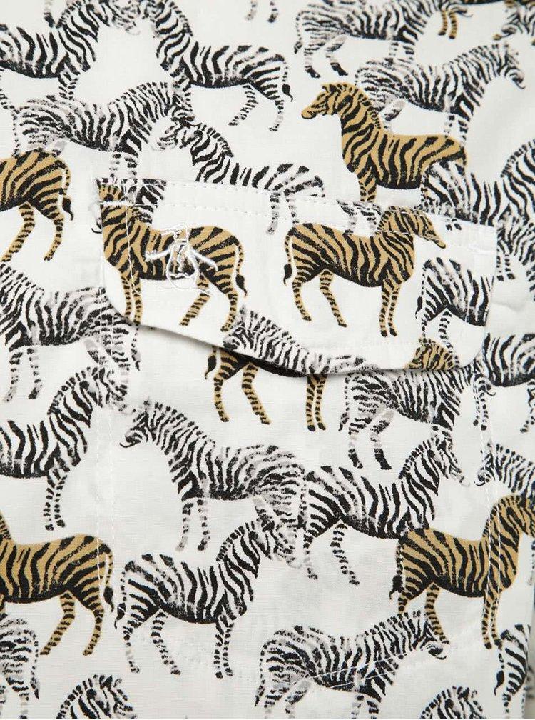 Krémová košile s potiskem zeber Original Penguin Zebra