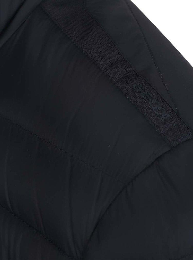 Jachetă matlasată albastru închis impermeabilă Geox