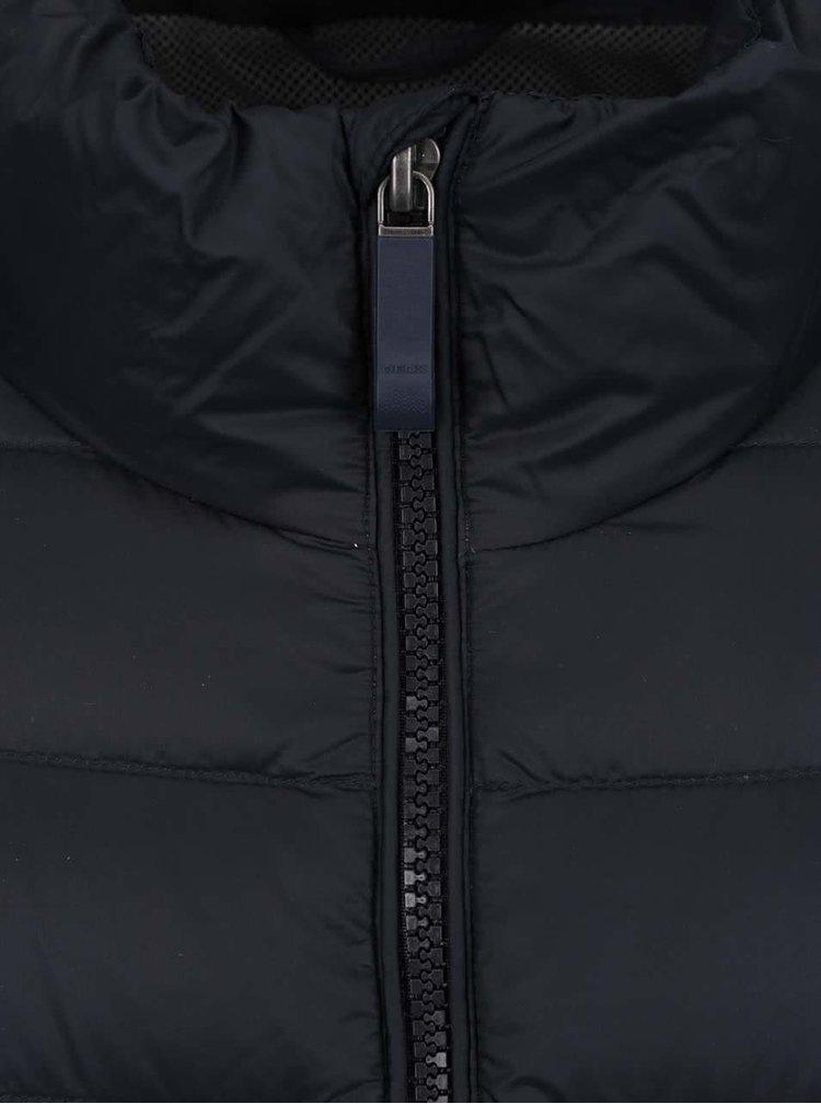 Jacheta matlasata albastru inchis impermeabila Geox