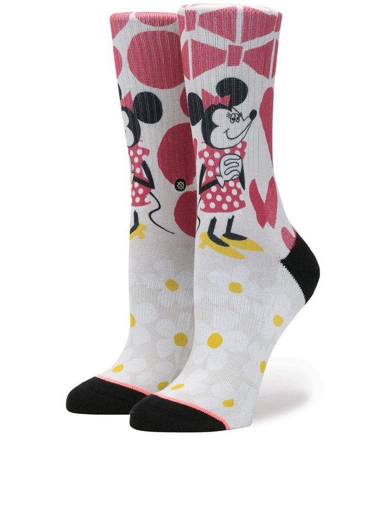 Červeno-krémové dámské ponožky Stance Yusuke Minnie