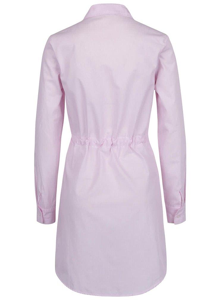 Rochie camasa roz pal ZOOT cu snur in talie