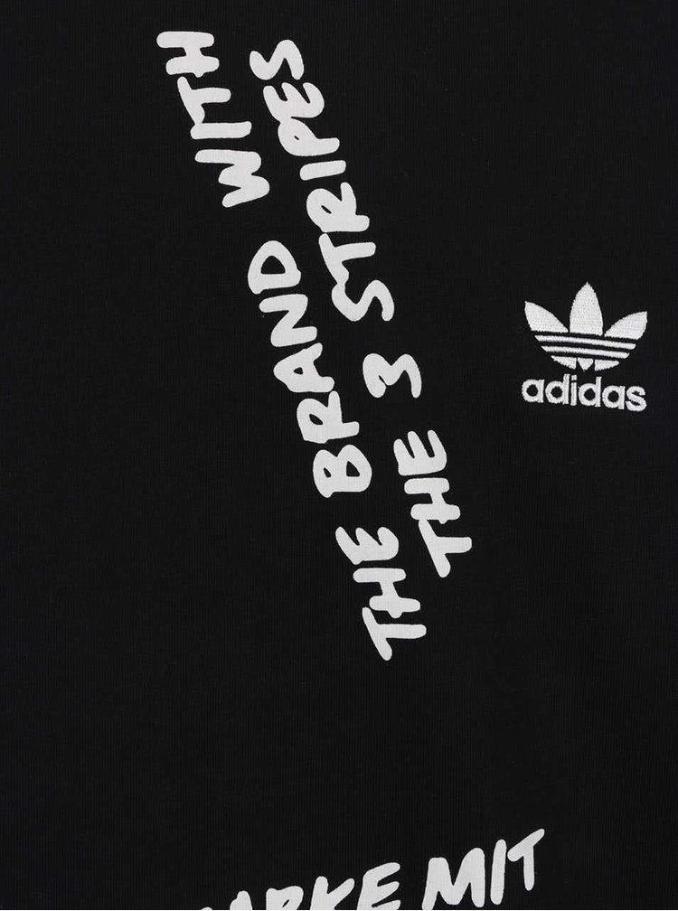 Černé pánské triko s potiskem adidas Originals NYC