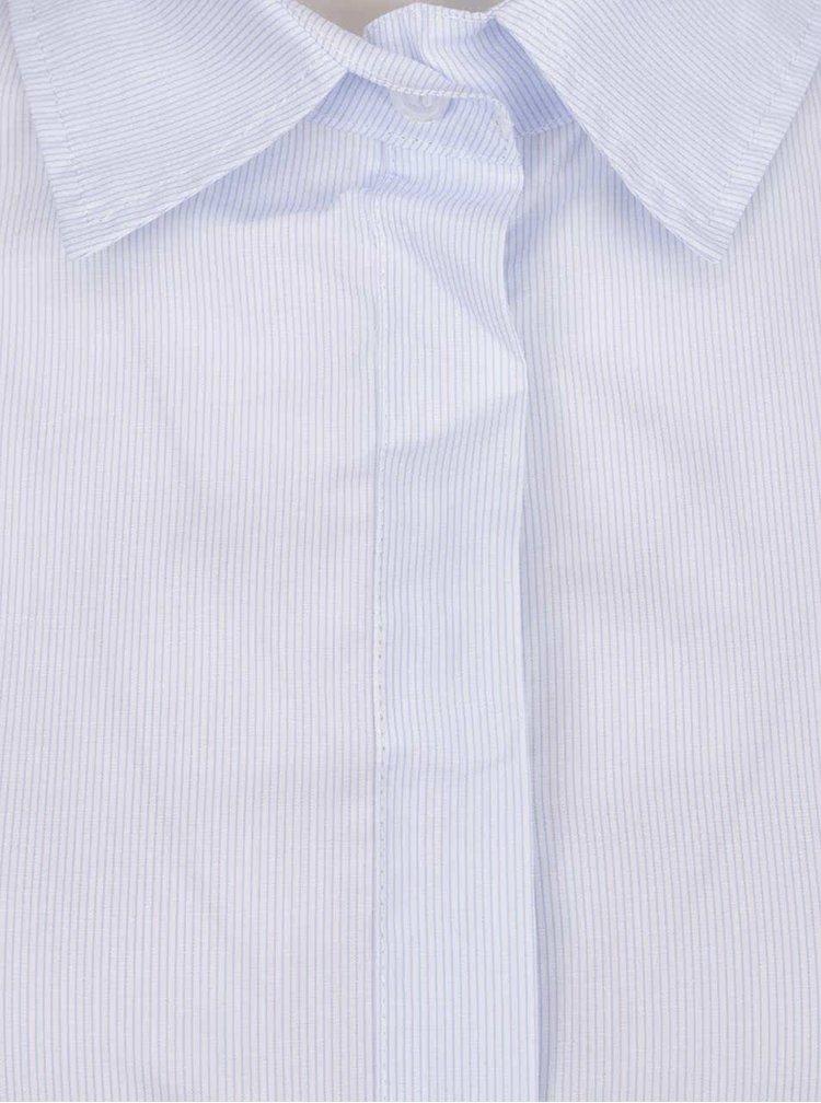 Světle modré pruhované košilové šaty ZOOT