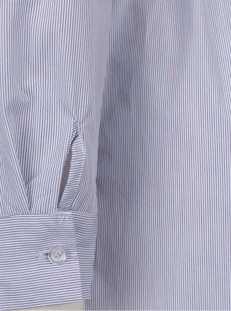Tmavě modré pruhované košilové šaty ZOOT