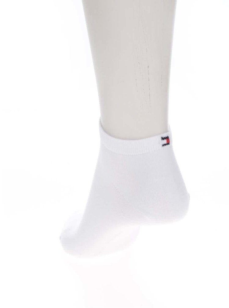 Sada dvou párů dámských kotníkových ponožek v bílé barvě Tommy Hilfiger Sneaker