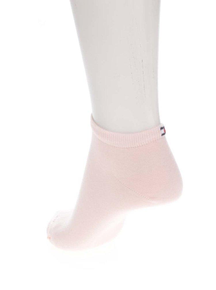 Sada dvou párů dámských kotníkových ponožek v růžové a modré barvě Tommy Hilfiger Sneaker