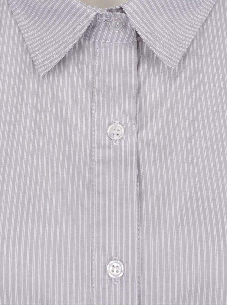 Šedá pruhovaná volná košile ZOOT