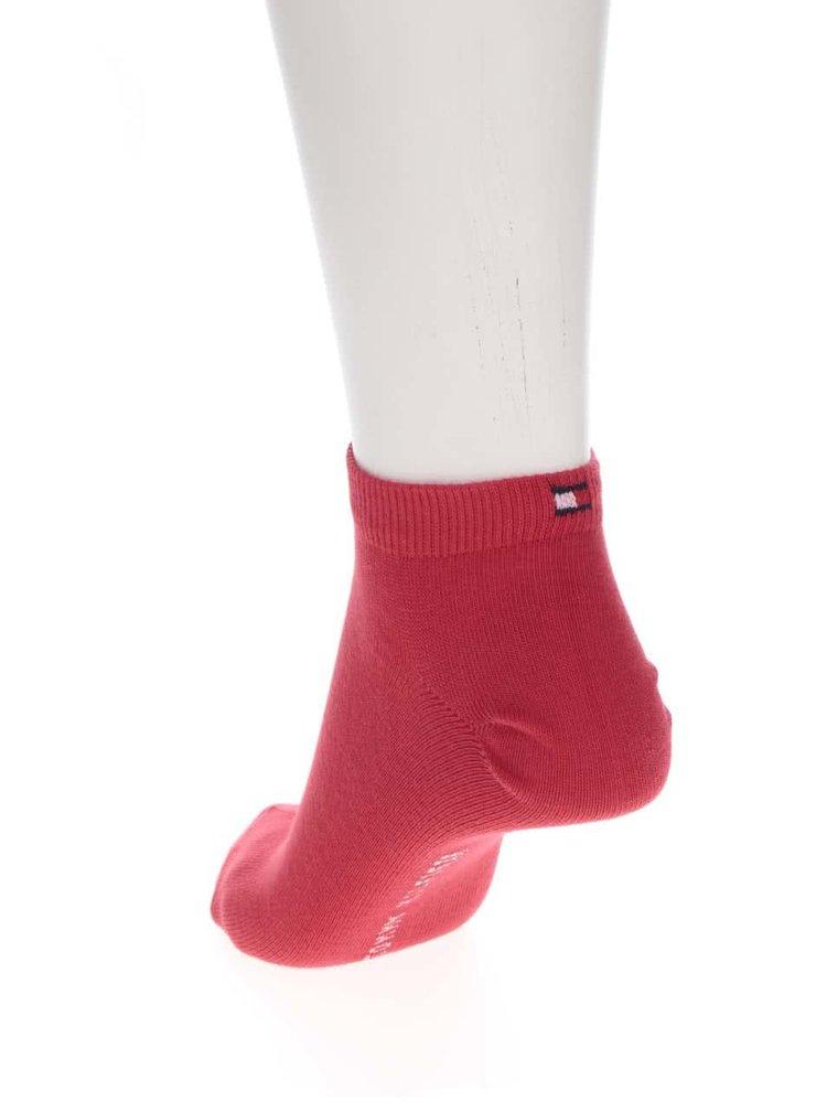Sada tří párů dámských ponožek v bílé, modré a červené barvě Tommy Hilfiger Promo