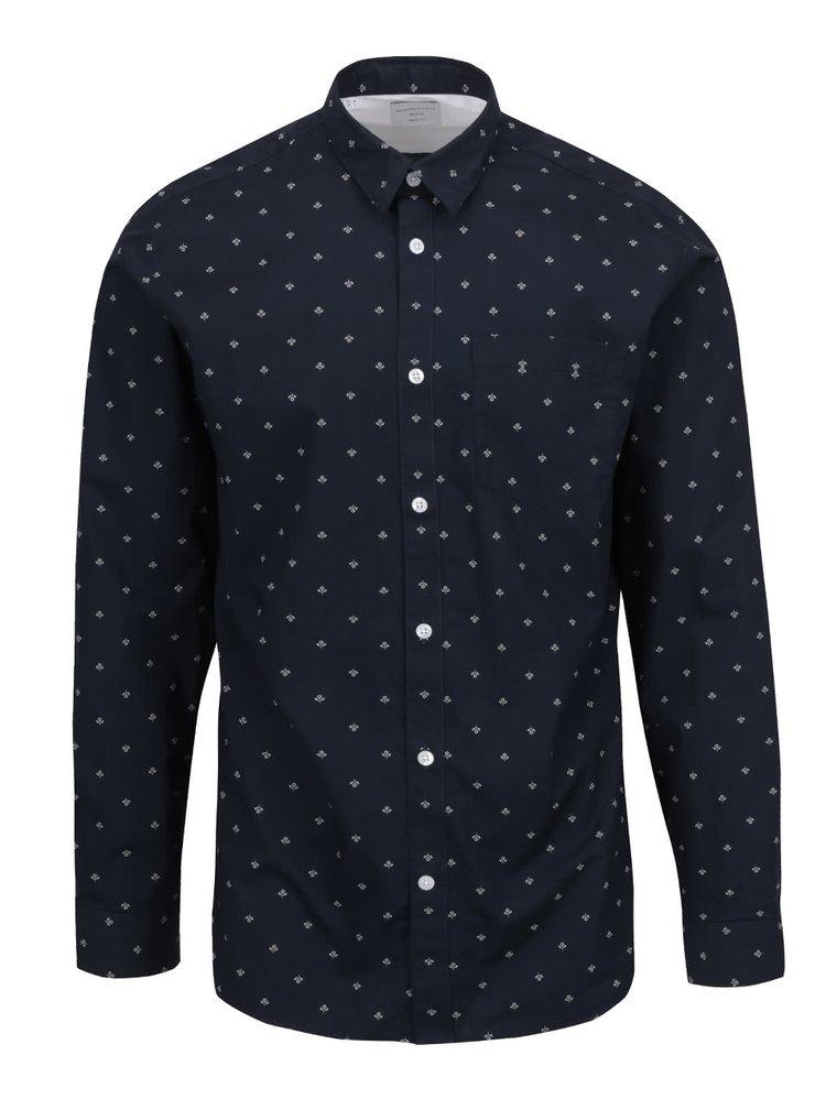 Tmavě modrá květovaná košile Selected Homme Woben