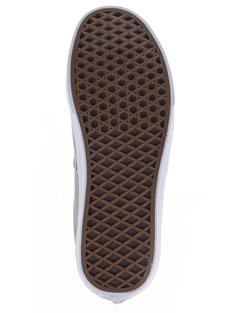 Béžovo-šedé pánské tenisky s koženými detaily VANS Era
