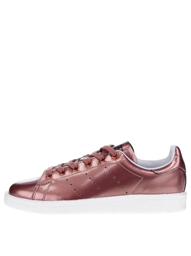 Tenisi rosii adidas Originals Stan Smith cu aspect metalic