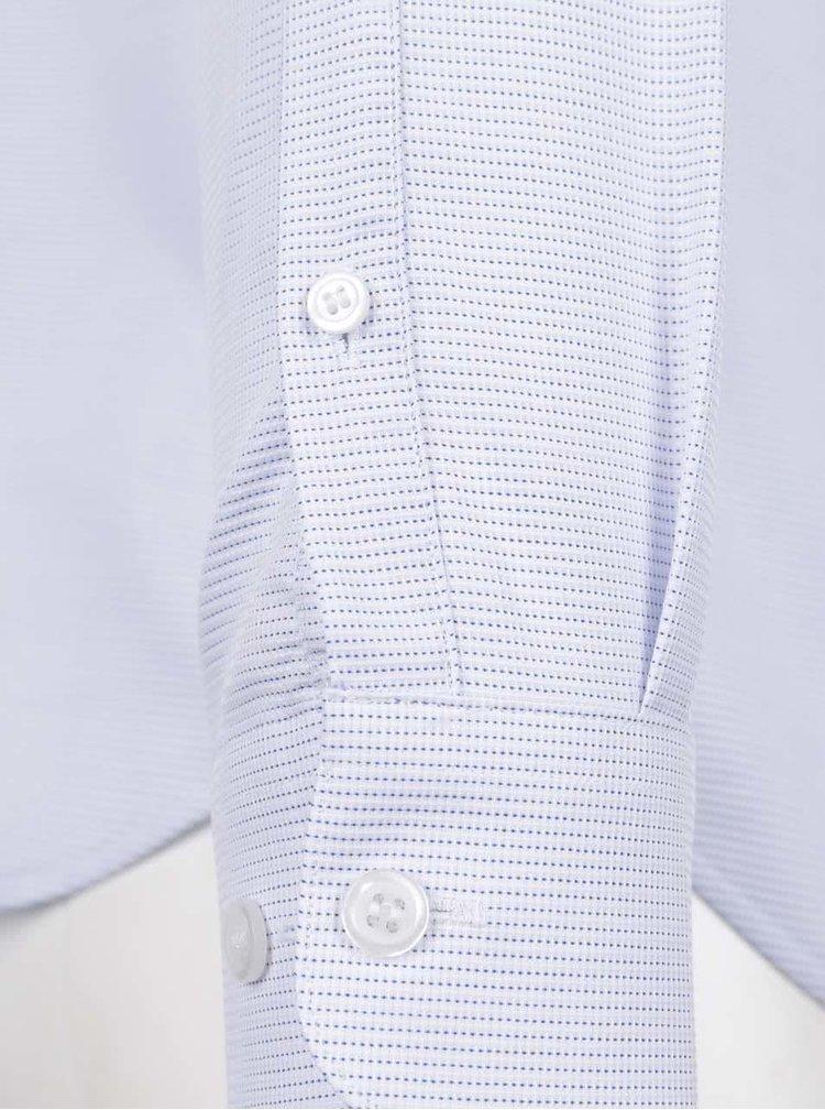 Světle modrá slim fit košile s jemným vzorem Selected Homme Onesid