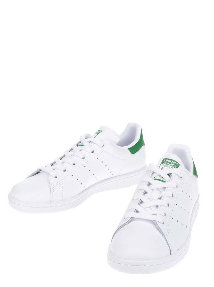 Bílé unisex kožené tenisky adidas Originals Stan Smith