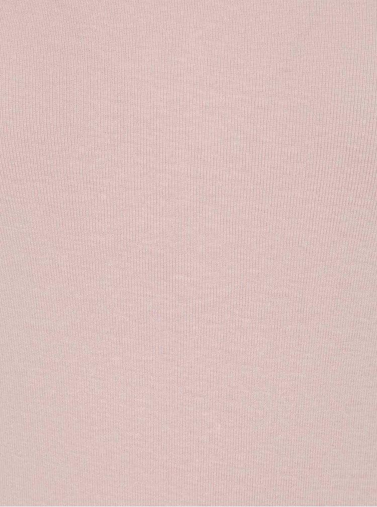 Bluză roz pal Haily´s Zora cu mâneci 3/4