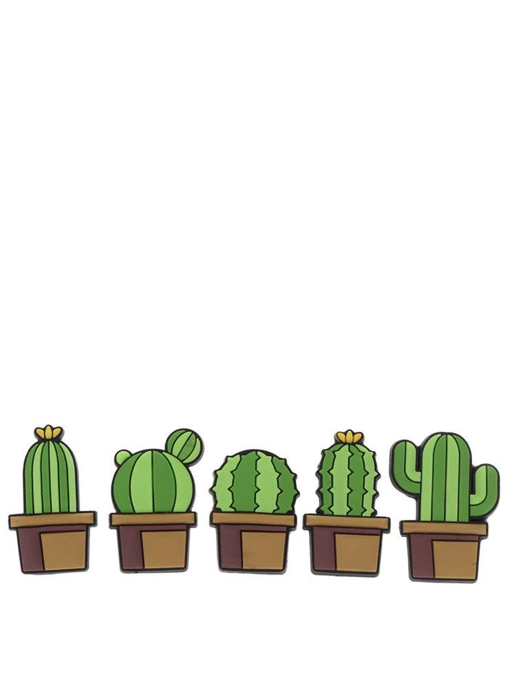 Set de 5 piuneze Mustard în formă de cactus