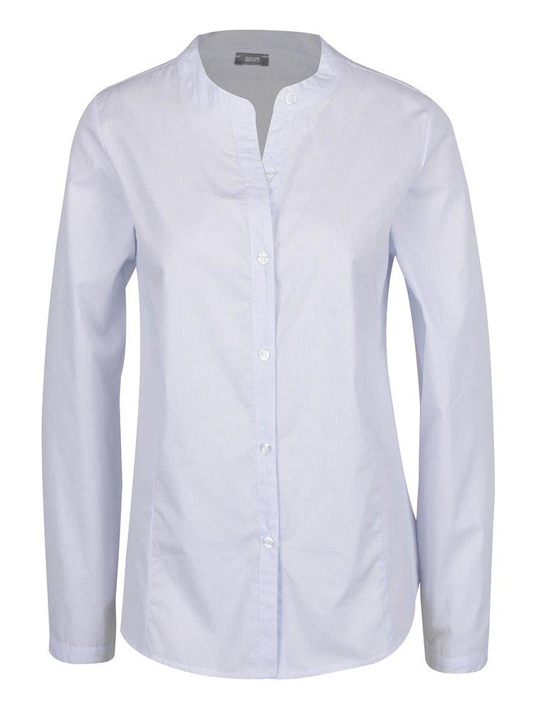 Světle modrá pruhovaná košile bez límečku ZOOT