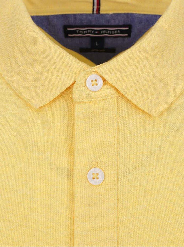 Žluté pánské polo triko Tommy Hilfiger