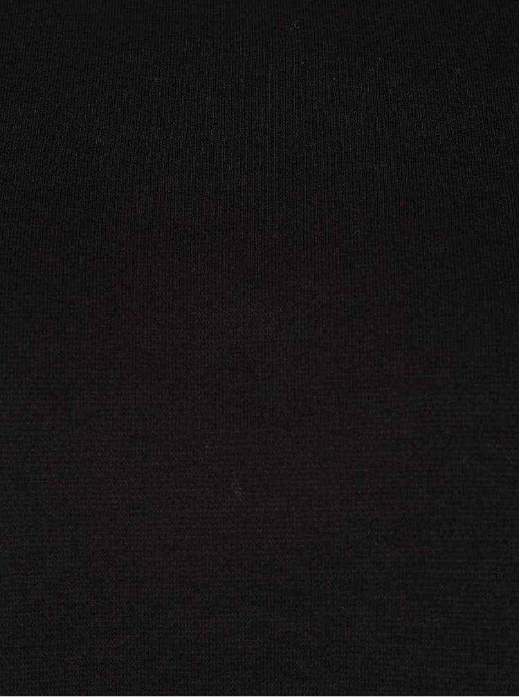 Černé tričko s nápisem na rukávech ONLY Graphic