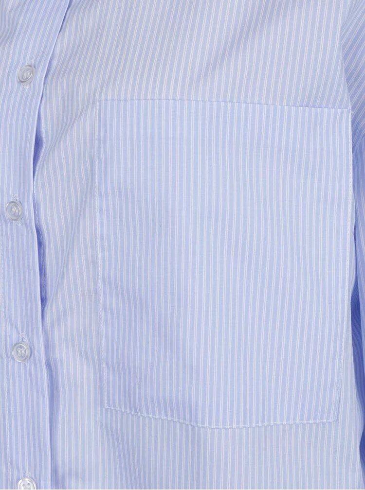 Světle modrá pruhovaná volná košile ZOOT