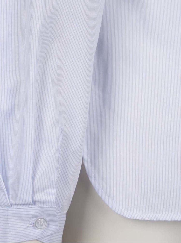 Světle modrá pruhovaná halenka s vázankou ZOOT
