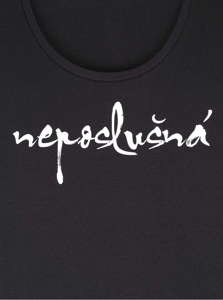 Čierne dámske tričko ZOOT Originál Neposlušná