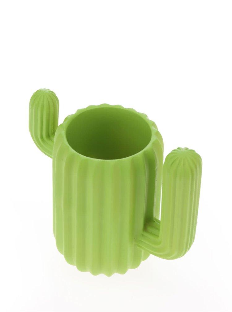 Suport verde pentru birou  Mustard în formă de cactus