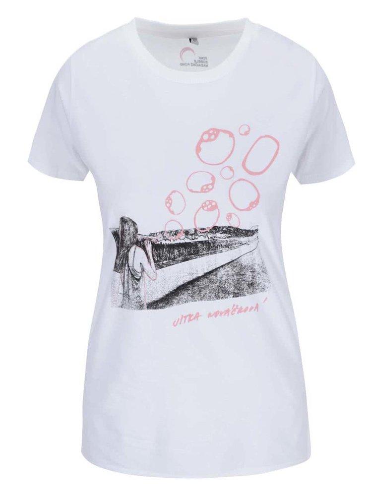 """""""Dobré"""" biele dámske tričko pre Pink Bubble Jitka Nováčková"""