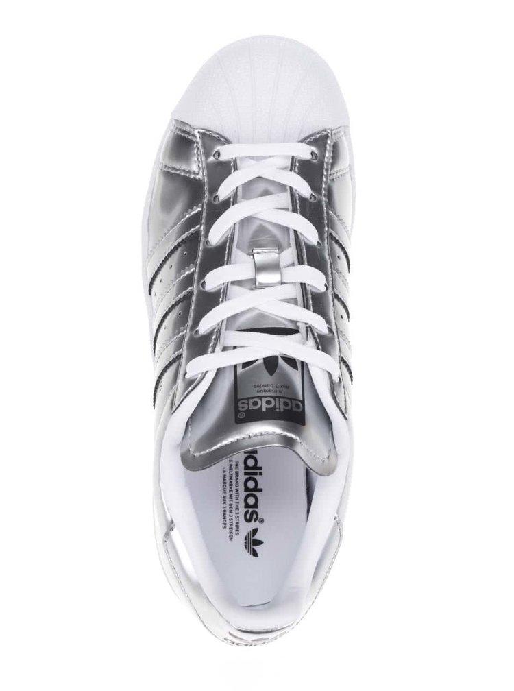 Pantofi sport arigintii adidas Originals Superstar cu aspect metalic