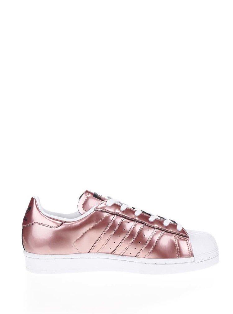 Pantofi sport roz adidas Originals Superstar cu aspect metalic