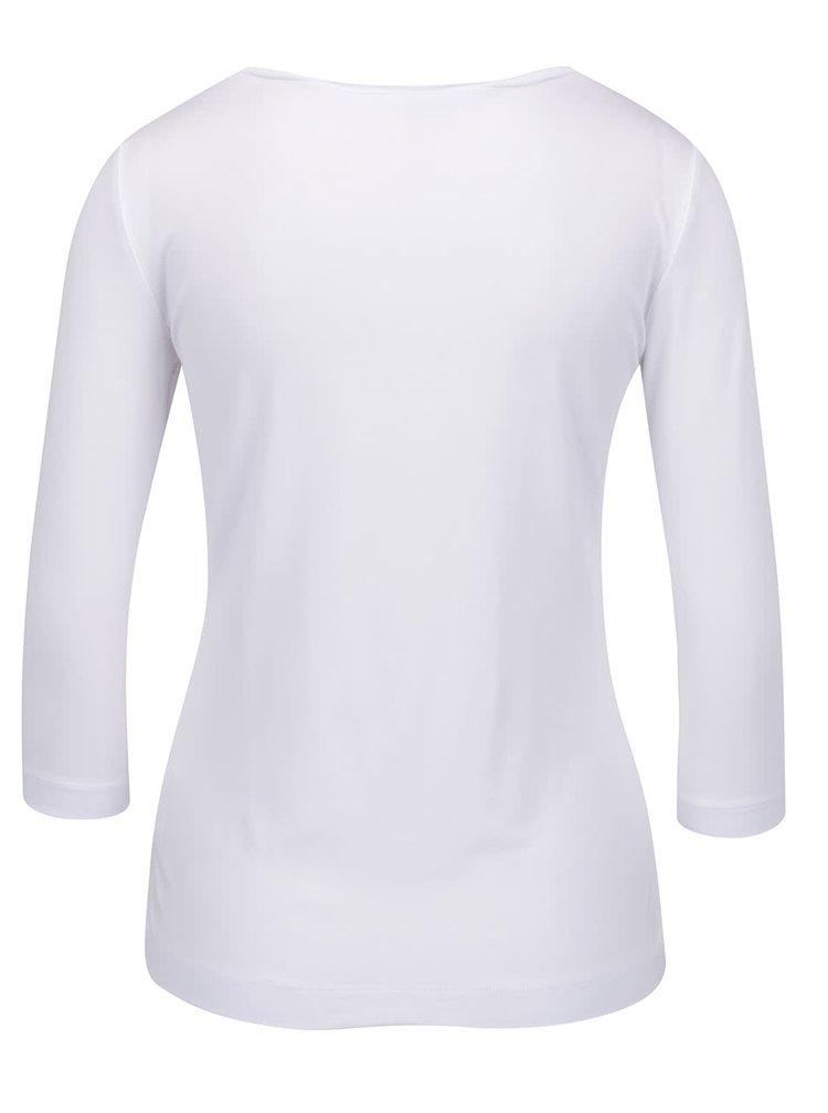 Bluză albă Pietro Filipi cu print și mâneci trei sferturi