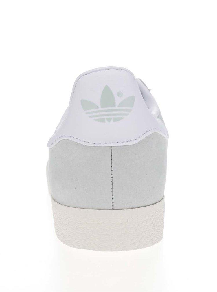 Světle zelené dámské semišové tenisky adidas Originals Gazelle