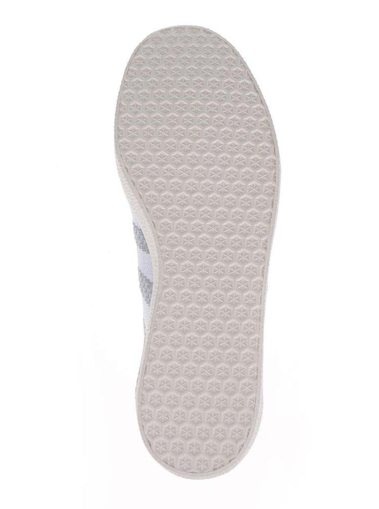 Pantofi sport gri adidas Originals Gazelle