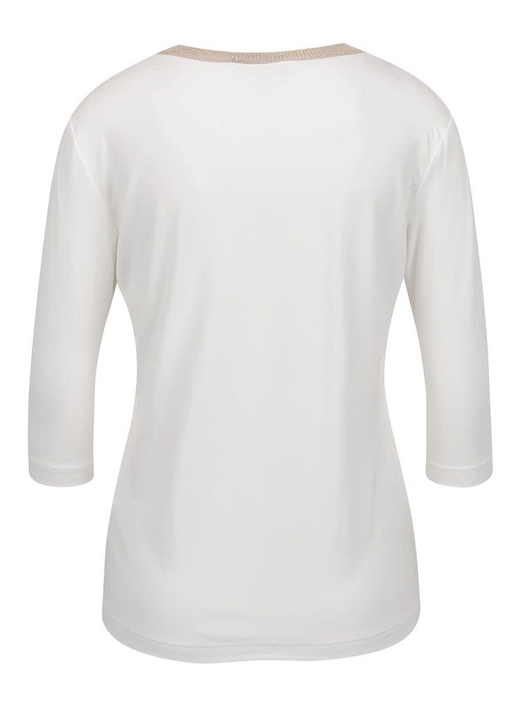 Krémové dámské tričko s 3/4 rukávem Pietro Filipi