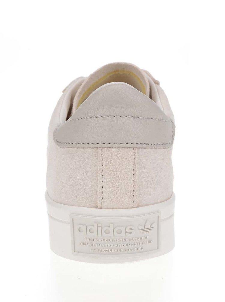 Pantofi sport crem din piele pentru barbati adidas Originals Court Vantage